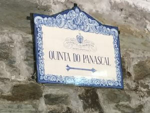 Portugal Wine Tour signpost to Quinta do Panascal